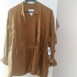 Linen Utility Jacket NWT